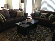 Sofa, loveseat, coffee table in Camp Pendleton, California