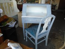 shabby chic vintage desk and chair in Naperville, Illinois