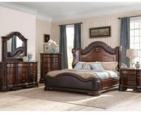 Edinburgh King Size Bed Set - bed + dresser+ mirror + 1 night stand + delivery in Stuttgart, GE