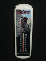 Remington Arms Co. Metal Advertising Thermometer in Aurora, Illinois