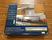 *REDUCED* SONY TV/Weather/FM/AM CD Kitchen Clock Radio in Okinawa, Japan
