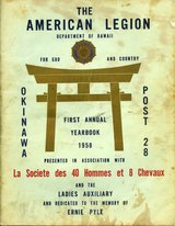 American Legion Okinawa 1st Annual Yearbook 1958 in Okinawa, Japan