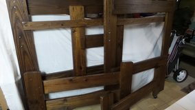 DARK WOOD OAK BUNK BED/TWIN BED HEADBOARD (FRAME ONLY) in Chicago, Illinois