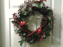 "18"" Artificial Christmas Wreath in Eglin AFB, Florida"