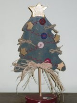 """12"""" wood button tree in Chicago, Illinois"""