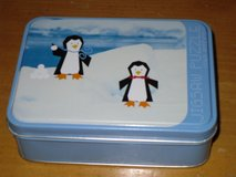 cute 100pc. penguin puzzle in tin in Chicago, Illinois