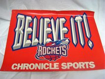 Collectible Houston Rockets NBA Newspaper Sign Publication 1996 2nd Championship in Houston, Texas