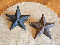 Pair of Metal Stars w/Posts in Yorkville, Illinois
