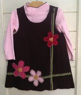 Brown Cotton Corduroy Jumper with Pink Matching Shirt Size 2T in St. Charles, Illinois