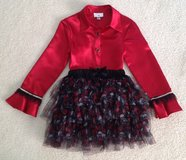 Girls Pirate Costume Hot Topic Skirt and Embellished Byer California Blouse Size Medium 8-10 in Yorkville, Illinois