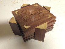 Set of 6 Wooden Coasters in Naperville, Illinois