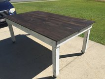 Wood farm style distressed dining dinner table in Camp Lejeune, North Carolina