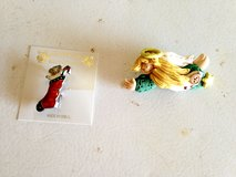 Christmas Pins (Stocking, Angels) in Joliet, Illinois