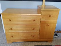 Natural Maple Dresser/Changing table in Yorkville, Illinois