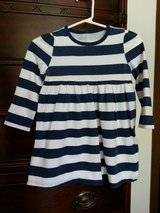 Girl's 2T navy blue and white stripe top in Bolingbrook, Illinois