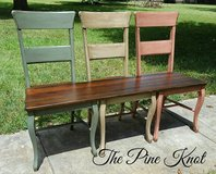 Benches Made from Old Chairs in Leesville, Louisiana