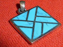 Silver w/ Turquoise Pendant in Okinawa, Japan