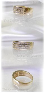 14K Yellow Gold  Channel  Diamond Wedding Band Size 6.5 in Camp Lejeune, North Carolina