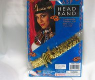 Gold Sequin Cleopatra Snake Asp Head Band Egyptian Halloween Costume Candy Corn in Kingwood, Texas