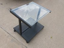 Small glass desk in Fort Riley, Kansas