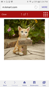 Welcome kitten statue new in Joliet, Illinois