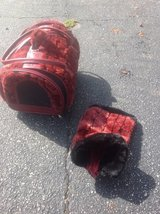 Designer Pet carrier with matching sweater Reduced. in Naperville, Illinois
