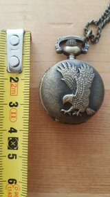 Eagle pocket watch with chain. in Ramstein, Germany