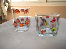 Hand Painted Glass Votives Fall Halloween Thanksgiving in Plainfield, Illinois