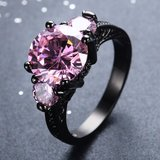 New - Bright Pink and Black Ring - Size 7 in Alamogordo, New Mexico
