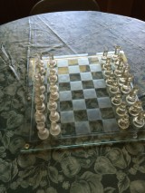 Beautiful Glass Chess Set in Fort Rucker, Alabama