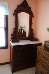 Victorian Dresser with marble top in Chicago, Illinois