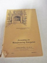 1948 Accounting for Manufacturing Enterprises in Westmont, Illinois