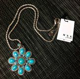 *REDUCED* NEW MANGO Necklace with Turquoise Pendant in Okinawa, Japan