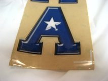 "2 Large Blue ""A"" Car Truck Decal Atascocita Middle School AMS Tigers in Kingwood, Texas"