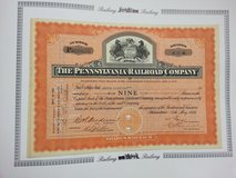 Old Certificate of The Pennsylvania RailRoad Company Apr 13, 1846 in Stuttgart, GE