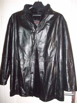 Men's Real Leather Coat Size L/XL in Ramstein, Germany