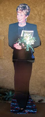 Princess Diana Stand up Cut out. in 29 Palms, California