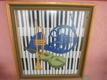 Hand crocheted, (Piano/Violin/Trumpet/French Horn) 1970's in Yucca Valley, California