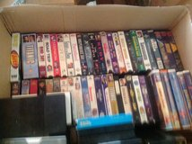 box of movies vhs in Alamogordo, New Mexico