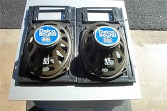PAIR OF DELCO 10 OHM SPEAKERS AND GRILLS in Bartlett, Illinois