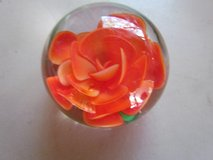 Peach Colored Rose Paperweight in Bolingbrook, Illinois
