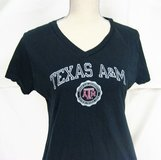 Texas ATM Aggies Russell M Black NCAA Women T-shirt Knit Jersey Graphic in Houston, Texas
