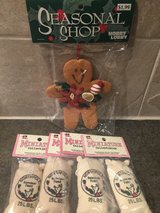 Ornament/collectible/3 reindeer feed, 1gingerbread man. in Bolingbrook, Illinois