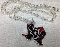Houston Texans Pendant Charm Necklace New Design Logo on State of Texas Guys or Gals Stainless S... in Houston, Texas