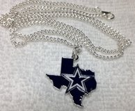Dallas Cowboys New Charm Pendant Star in State of Texas on Stainless Chain Guys or Gals in Houston, Texas