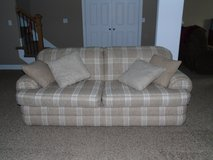 Sofa and pillows in Fort Riley, Kansas