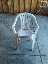 WHITE PLASTIC OUTDOOR CHAIR..-ROMEOVILLE in Naperville, Illinois