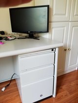 Mini Desks- Gray color with 1-drawer pedestal in Chicago, Illinois