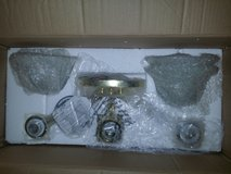 Bathroom/room 3 lamp light fixture NEW in Travis AFB, California