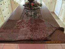 New table runner from Macy's (very long) for extended  table in Spring, Texas